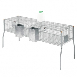 Cage for Rabbits Penta 4 - 2 Compartments - Metal