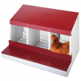 3 Compartments Metallic Nesting Box for Laying Hens