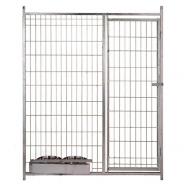Front of Wire Mesh with Door and Feeders
