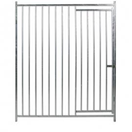 Front of Bars with Door
