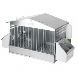 2 Compartments Cage for Partridges