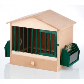 1 Compartment Wood Cage